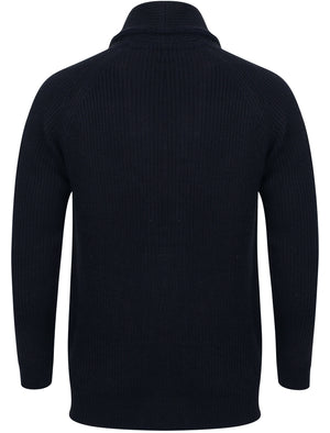 Hatton Wool Blend Shawl Neck Cardigan In Dark Navy – Tokyo Laundry