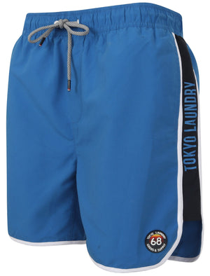 Haunani Runner Swim Shorts with Side Panels In Turkish Blue – Tokyo Laundry