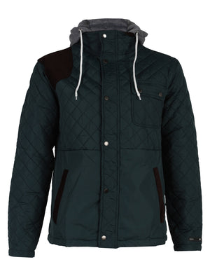 Mens Dissident Hector Quilted Green Jacket