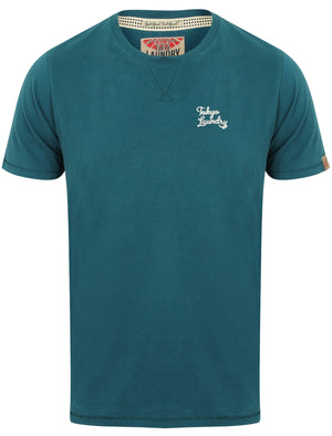 Hemsby V Insert Crew Neck T-Shirt in Tokyo Teal – Tokyo Laundry