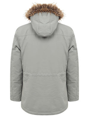 Hjalmar Utility Parka Coat with Fleece Lined Faux Fur Trim Hood in Light Griffin Grey – Tokyo Laundry