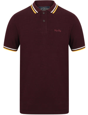 Holsen Cotton Grindle Polo Shirt with Tipping in Wine Tasting – Tokyo Laundry