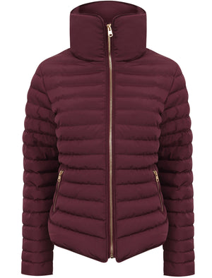 Honey Funnel Neck Quilted Jacket in Burgundy – Tokyo Laundry