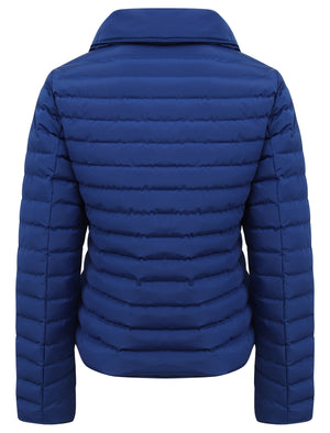 Honey Funnel Neck Quilted Jacket in Mazarine Blue - Tokyo Laundry