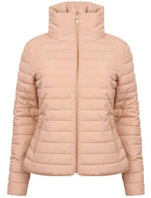 Honey 2 Funnel Neck Quilted Jacket in Blush Pink – Tokyo Laundry