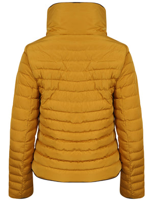 Honey Funnel Neck Quilted Jacket in Old Gold - Tokyo Laundry