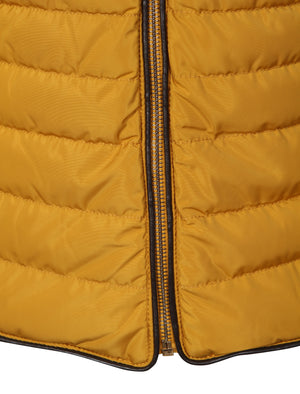 Jenny Funnel Neck Quilted Jacket in Old Gold - Tokyo Laundry