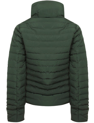Honey 2 Funnel Neck Quilted Jacket in Dark Green – Tokyo Laundry