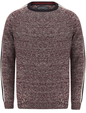 Honnold Knitted Jumper with Striped Sleeves In Port Royale Twist – Tokyo Laundry