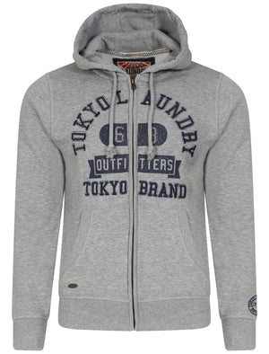 Hotchkiss Zip Through Slub Hoodie in Light Grey Marl  - Tokyo Laundry