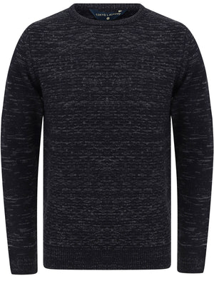 Howth Wool Blend Woven Knitted Jumper in True Navy – Tokyo Laundry