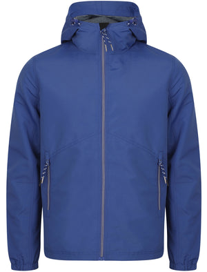 Hull Hooded Windbreaker Jacket In Blue - Tokyo Laundry