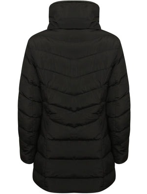 Jaboris Funnel Neck Quilted Coat in Black - Tokyo Laundry