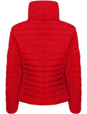 Honey 2 Funnel Neck Quilted Jacket in Crimson - Tokyo Laundry