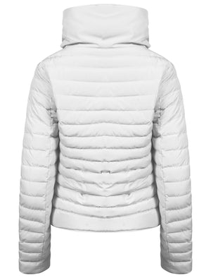 Jenny Funnel Neck Quilted Jacket in Ivory  - Tokyo Laundry