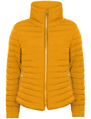Honey 2 Funnel Neck Quilted Jacket in Old Gold - Tokyo Laundry