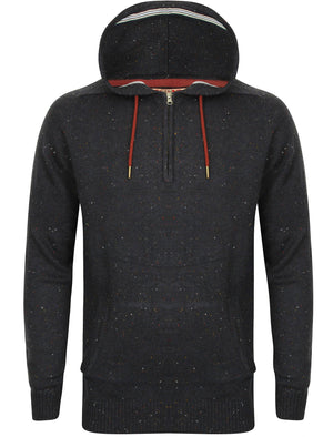 Johny Knitted Wool Blend Multi-Nep Pullover Hoodie In Navy – Tokyo Laundry