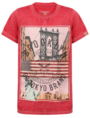 Boys K-Auburn Point Burnout T-Shirt in Pink Rose – Tokyo Laundry Kids