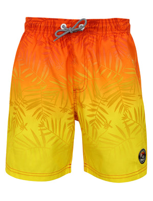 Boys K-Cleopas Tropical Swim Shorts in Orange / Yellow Ombre – Tokyo Laundry Kids