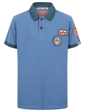 Boys K-Downton Pique Polo Shirt in Dutch Blue – Tokyo Laundry Kids