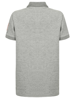Boys K-Downton Pique Polo Shirt in Light Grey Marl – Tokyo Laundry Kids