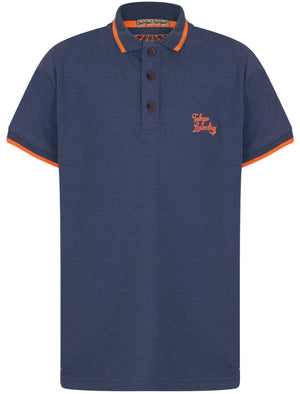 Boys K-Lilestone Cotton Polo Shirt In Cornflower Blue Marl – Tokyo Laundry Kids