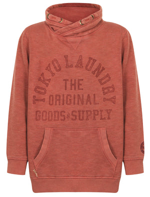 Boys K-Nassau Bay Pullover Hoodie in Red Mahogany - Tokyo Laundry Kids