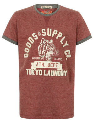 Boys K-Tiger Lake Applique T-Shirt in Bordeaux Marl – Tokyo Laundry Kids