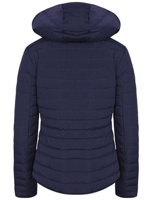 Kacie Quilted Hooded Jacket in Peacoat - Tokyo Laundry