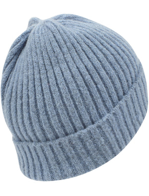 Women's Kai Ribbed Cable Knit Beanie Hat in Pastel Blue – Tokyo Laundry