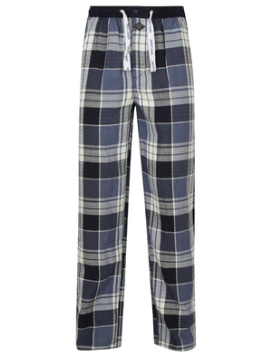 Keesey Checked Lounge Pants in Blue Check - Tokyo Laundry