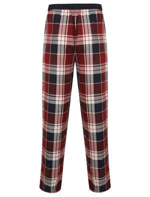 Keesey Checked Lounge Pants in Red Check - Tokyo Laundry