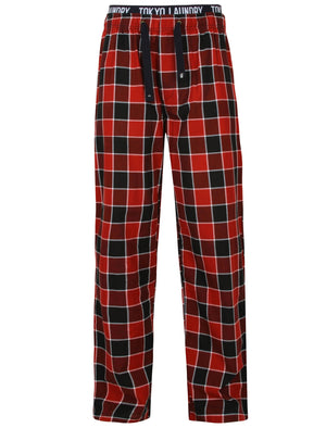 Kempt Checked Lounge Pants In Merlot – Tokyo Laundry