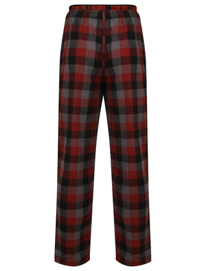 Kenning Brushed Flannel Checked Lounge Pants in Red – Tokyo Laundry
