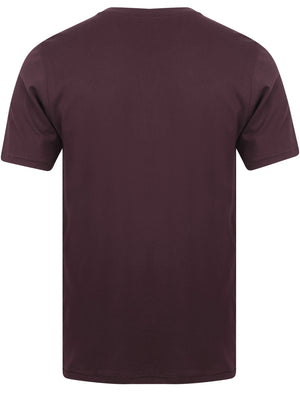 Koppelo (3 Pack) Crew Neck Cotton T-Shirts In Hunter Green / Aubergine / Black - Tokyo Laundry