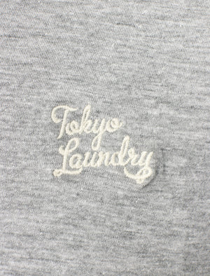 Koppelo (3 Pack) Crew Neck Cotton T-Shirts In White / Light Grey Marl / Navy - Tokyo Laundry