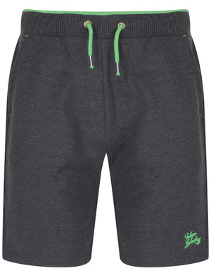 Lawes Brushback Fleece Jogger Shorts In Charcoal Marl – Tokyo Laundry