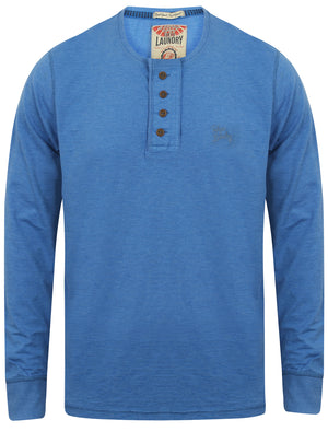 Lawton Cove Long Sleeve Henley Top in Cornflower Blue Marl – Tokyo Laundry