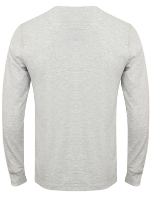 Lawton Cove Long Sleeve Henley Top in Ice Grey Marl – Tokyo Laundry