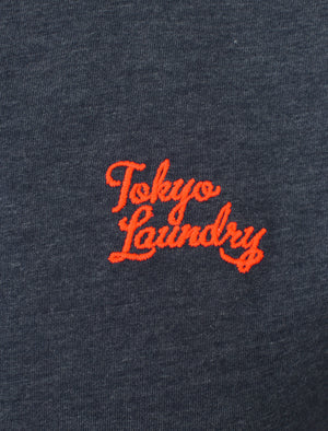 Lilford Cotton Crew Neck T-Shirt In Mood Indigo Marl - Tokyo Laundry