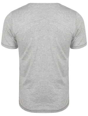 Lincoln Cove Motif T-Shirt in Light Grey Marl - Tokyo Laundry