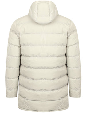 Edmonton Longline Quilted Puffer Coat with Hood In True Ivory – Tokyo Laundry