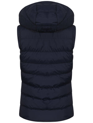 Lottie Fleece Lined Gilet In Peacoat and Bright Rose - Tokyo Laundry