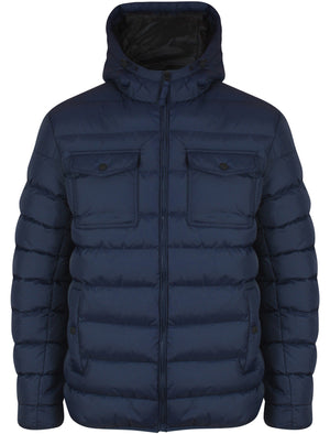 Lowe Quilted Puffer Coat in Midnight Blue - Tokyo Laundry