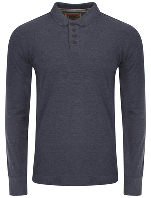 Tokyo Laundry Lowell long sleeved polo in navy