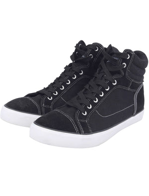 Mako Hi Top Lace Up Canvas Trainers in Jet Black – Tokyo Laundry