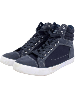 Mako Hi Top Lace Up Canvas Trainers in Sargasso Blue – Tokyo Laundry
