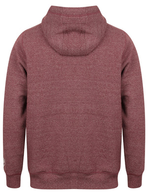 Marshall Bay Zip Through Hoodie In Bordeaux Marl – Tokyo Laundry