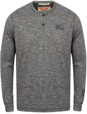 Marshall Fold Long Sleeve Top in Charcoal - Tokyo Laundry