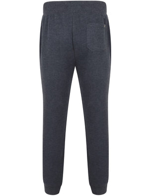 Marshaw Brush Back Fleece Joggers In Dark Navy Marl – Tokyo Laundry